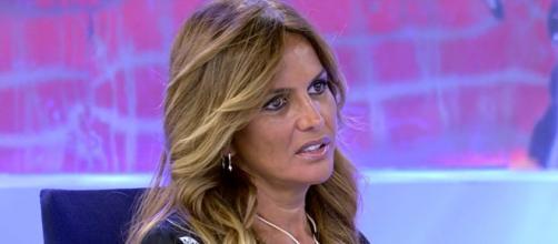 Marta López en un momento de la emisión del programa Sálvame (Telecinco)