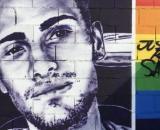 Mural en recuerdo a Samuel Luiz, en imagen (RRSS)