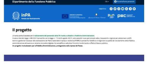 Assunzioni nella PA, debutta il portale InPa: via alle candidature dal 10 agosto.