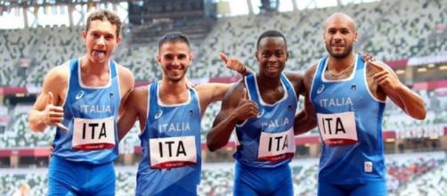 Filippo Tortu, Lorenzo Patta, Eseosa Desalu e Marcell Jacobs.