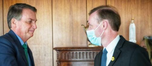 Jake Sullivan se reúne com Bolsonaro em Brasília (Divulgação/Embaixada dos EUA)