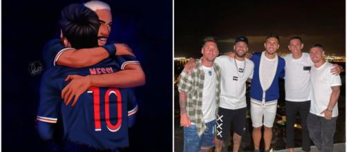 Lionel Messi et Neymar n'ont jamais caché la sympathie qu'ils avaient l'un envers l'autre - Source : capture d'écran, Twitter