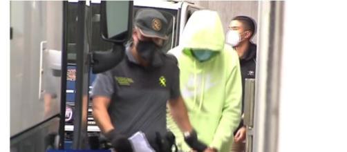 Los cuatro detenidos declararon el jueves en los juzgados de A Coruña - Captura de pantalla Telecinco