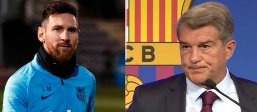Joan Laporta ha dejado escapar a Messi para no hipotecar al club. Instagram (@leomessi y @jlaportaoficial)