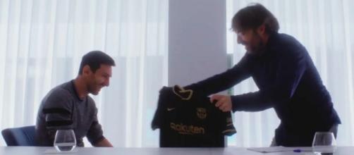 Lionel Messi fue entrevistado el año pasado por Jordi Évole (Twitter/@jordievole)