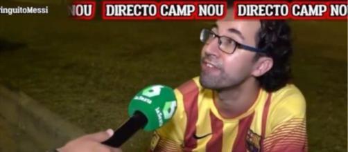 Un aficionado culpó a Florentino por la salida de Messi y las redes sociales lo viralizan (La Sexta)