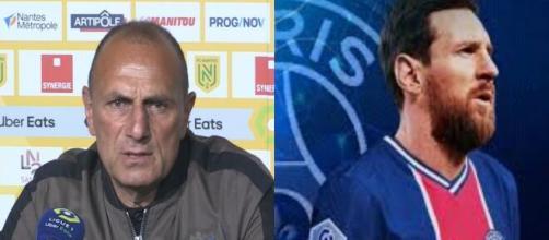 En conférence de presse, Michel Der Zakarian a commenté la possible arrivée de Messi au PSG (Source screen Youtube)