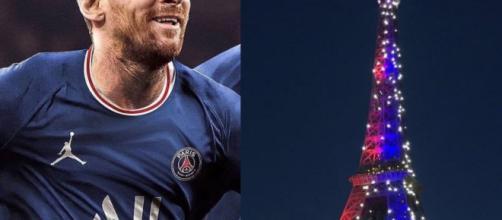 Lionel Messi pourrait être présenté mardi lors d'un méga événement qui se tiendra à la Tour Eiffel - Source : capture Sport 360