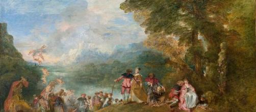 Jean-Antoine Watteau's 'The Embarkation for Cythera' (Image source: Plum leaves/Flickr)