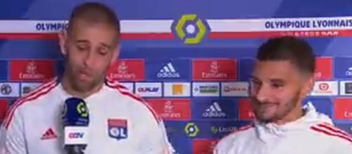 Le fou rire de Houssem Aouar quand Slimani commence son interview - Source : capture d'écran, Youtube