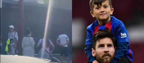 Thiago Messi a pris la défense de son père - Source : montage, Twitter