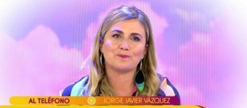 Carlota Corredera no ha podido evitar las lágrimas ante la llamada de Jorge Javier Vázquez (Telecinco)