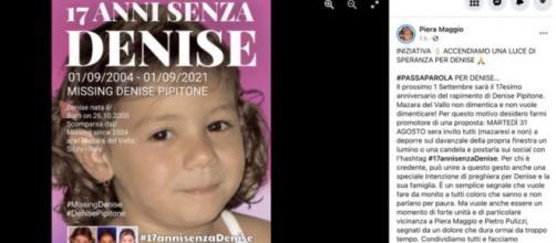 Denise Pipitone, il post della madre Piera Maggio. (Facebook)