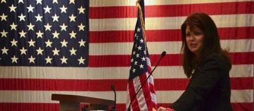 Kleefisch at a Memoria Day event in 2015 (Image source: Jenna Lenski/U.S. Air National Guard)