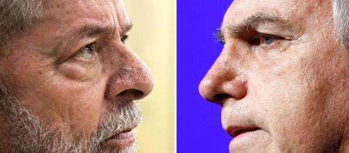 Lula amplia vantagem sobre Bolsonaro para 2022 (Fotomontagem)