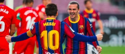 Messi y Griezmann hicieron 58 goles en la última temporada en el FC Barcelona (@FCBarcelona_es)