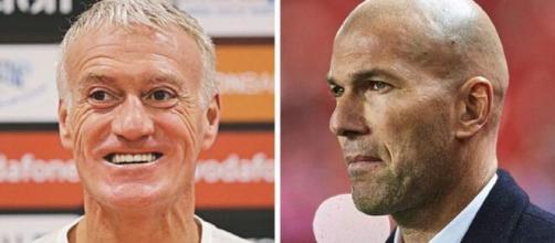 Zidane envisage de prendre les rênes de l'équipe de France en 2023 (montage photo, capture YouTube)
