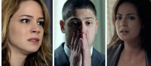 Cristina, Lucas e Clara em 'Império' (Fotomontagem/Reprodução/TV Globo)