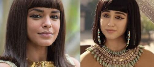 Kamesha e Amarílis em 'Gênesis' (Fotomontagem)
