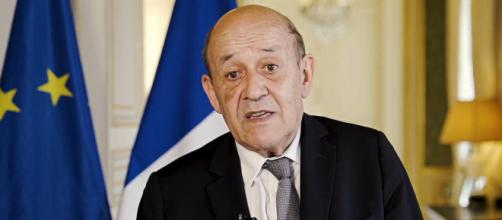 French Foreign Minister Jean-Yves Le Drian expressed his country's objections to AUKUS (Image source: aefe.info/YouTube)