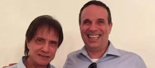 Roberto Carlos recebe carinho de famosos após morte do filho (Arquivo Blasting News)