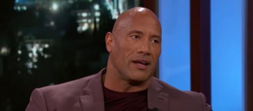 "Dwayne ""The Rock"" Johnson reacts to Brady's new ad (Image source: Jimmy Kimmel Live/YouTube)"