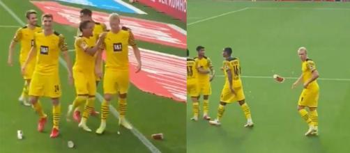 Haaland encore buteur en Bundesliga avec Dortmund. (Crédit Twitter)