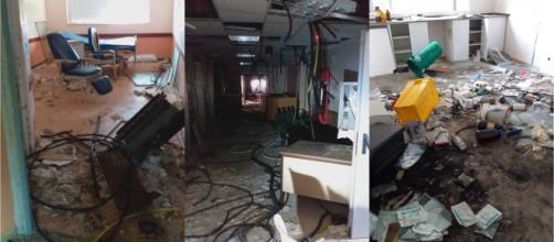 Abandono y horror: el estado interior del hospital (TikTok@biancamilan06)