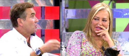 Belén Esteban recriminó a Antonio Montero haberle sacado las fotos sin su permiso (Telecinco)