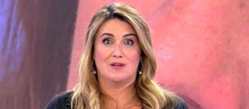 Carlota Corredera le ha recomendado a Anabel Pantoja que hable con el director si no quiere hablar (Twitter/@telecincoes)
