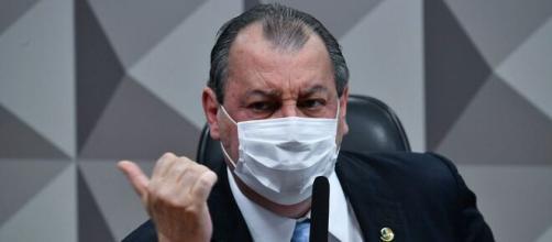 Omar Aziz se irrita com advogado de Luciano Hang na CPI da Covid (Leopoldo Silva/Agência Senado)
