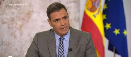Pedro Sánchez Castejón durante la entrevista a la Televisión Española. (TVA)