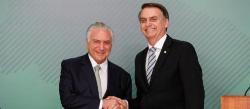 Temer ajuda Bolsonaro e gera conflitos em apoiadores do presidente (Alan Santos/PR)