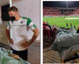 Miguel pudo disfrutar anoche del triunfo del Betis en Granada - Collage RRSS