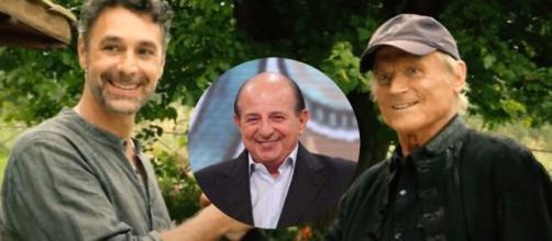 Don Matteo 13, retroscena cast: Giancarlo Magalli sul set al fianco di Terence Hill e Bova.