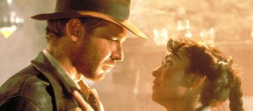 Harrison Ford nei panni dell'archeologo Indiana Jones nel primo capitolo della saga.