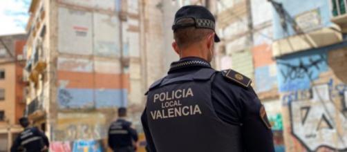 Los vecinos del barrio de Valencia dicen estar muy asustados por la delincuencia (@policialocalvlc)