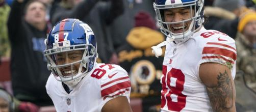 Sterling Shepard finished with seven catches in Week 1 (Image source: Keith Allison/Wikimedia Commons)