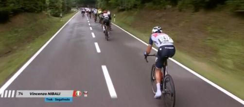 Vincenzo Nibali impegnato al Giro del Lussemburgo.