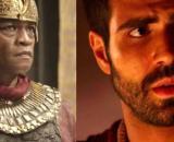 Potifar e José em 'Gênesis' (Fotomontagem/Reprodução/Record TV)