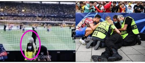 Cristiano Ronaldo met KO une steward