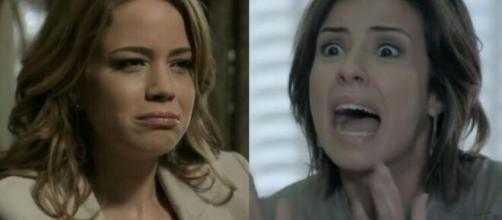 Cristina e Clara em 'Império' (Fotomontagem/Reprodução/TV Globo)