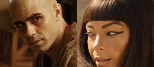 José e Neferíades em 'Gênesis' (Fotomontagem/Reprodução/Record TV)