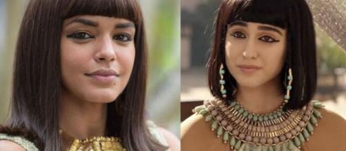 Kamesha e Amarílis em 'Gênesis' (Fotomontagem/Reprodução/Record TV)