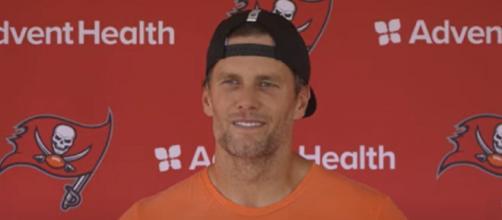 Brady is 5-0 against Falcons quarterback Matt Ryan (Image source: Tampa Bay Buccaneers/YouTube)