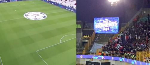 Les fans du PSG chambreurs avec les Belges. (crédit Twitter)