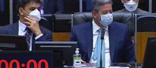 Lira é xingado em sessão (Reprodução/TV Câmara)