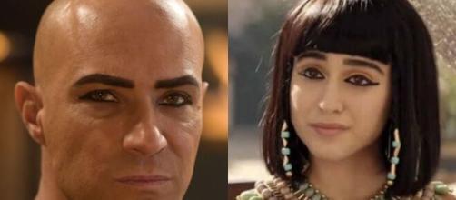 Shesi e Amarílis em 'Gênesis' (Fotomontagem/Reprodução/Record TV)