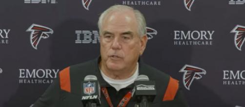 Dean Pees and Brady worked together in New England for 6 years (Image source: Atlanta Falcons/YouTube)