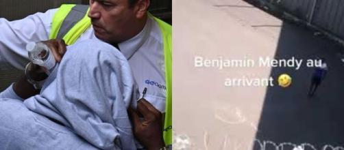 Des images de Benjamin Mendy en prison viennent de fuiter (capture YouTube et montage photo)